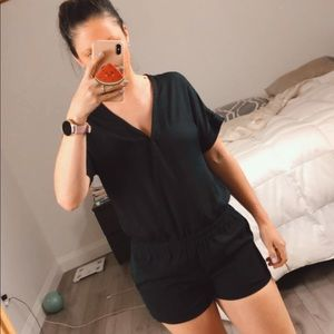Black | Sheer Kenneth Cole shorts jumpsuit size xs